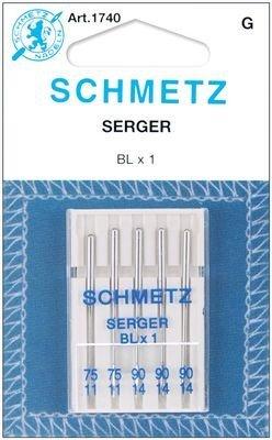 SCHMETZ Overlock (BLX1) Sewing Machine Needles - Carded - Assortment (Assortment Carded)