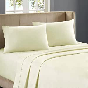 Nile Bedding Extra Luxurious 100 Percent Egyptian Cotton Duvet Set with 2 Pillowcases 350 TC Solid (Cal-King , Ivory)
