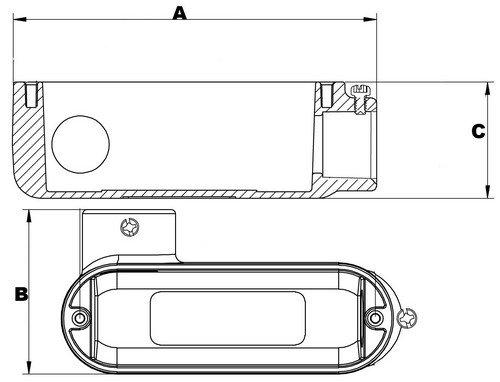 Set Screw 1-1//2 Thread Size 1-1//2 Thread Size Morris Product Type LR Aluminum Morris 14280 Combination Conduit Body Threaded