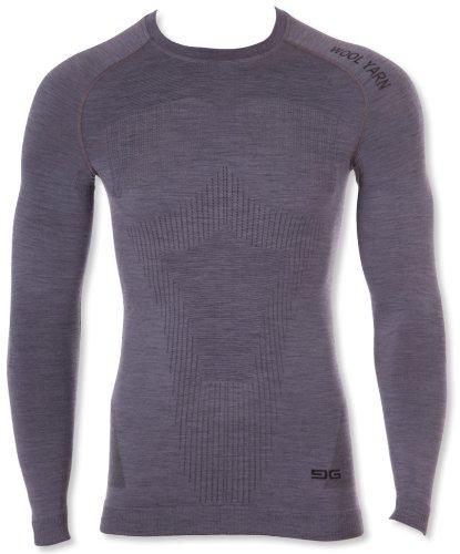 Gatta Camiseta Lana Thermoactive para Hombre (Gris, XXL)