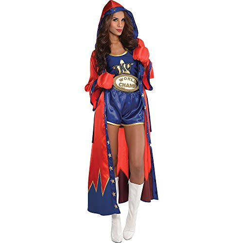 AMSCAN Knockout Sexy Boxer Halloween Costume for Women, Small, with Included Accessories]()