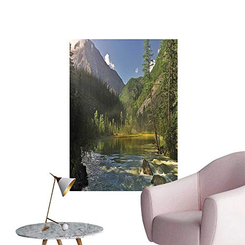 Vinyl Wall Stickers Mounta Lake Siberia Altai Katun Ridge Alp Morn View Green Blue Perfectly Decorated,12