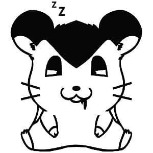 Hamster Sleep Deep - Cartoon Decal Vinyl Car Wall Laptop Cellphone Sticker