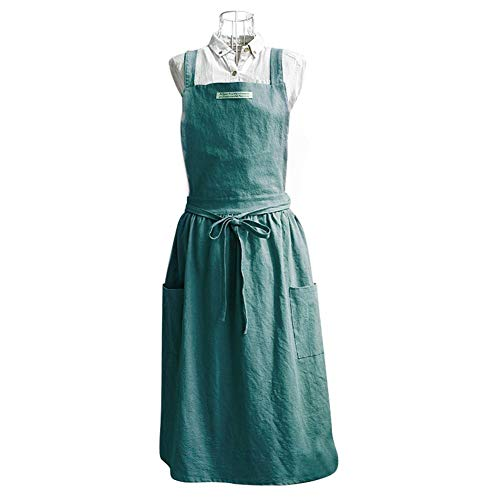 Cherry-Lee Nordic Style Apron, Cotton Fashionable Pleated Apron with Pockets for Apron Hotel Restaurant Chef Waiter Cake Kitchen Oven Pot Holder Cook Apron Gift Coffee Shop