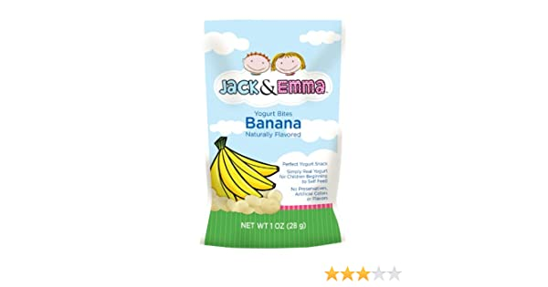Jack And Emma Dried Yogurt Bites Banana 1 Ounce Pack Of 8