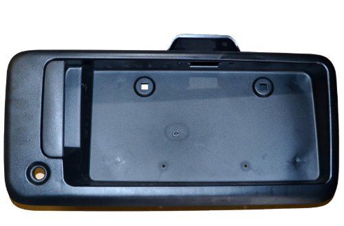 PT Auto Warehouse GM-3904A-TG - Tailgate Handle, Textured Black - Back Door Handle with License Bracket