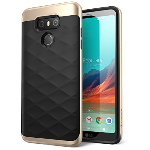 LG G6 Case, Clayco Helios Series Premium Hybrid Protective Case for LG G6 2017 Release, Retail Package (Gold)