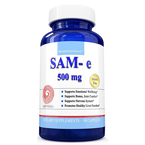Natural Antidepressant (SAM e 500mg 90 Capsules Natural Antidepressant Pure SAMe 1500mg Daily Supplement ( s adenosyl methionine ) Best Joint Support Anxiety Mood and Liver Support by BoostCeuticals)