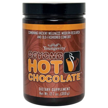Hot Chocolate Organic cocoa with Reishi mushroom extract - 360g - 2 Pack by YNG