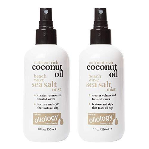 (Oliology Coconut Oil Beach Wave Sea Salt Mist Spray, 8 Oz. (2 Pack))