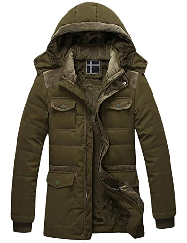 Quilted Hooded Long Down Jacket - 3