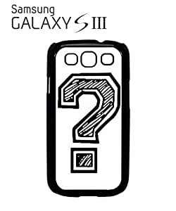 Question Mark Geek Nerd Mobile Cell Phone Case Samsung Galaxy S3 White