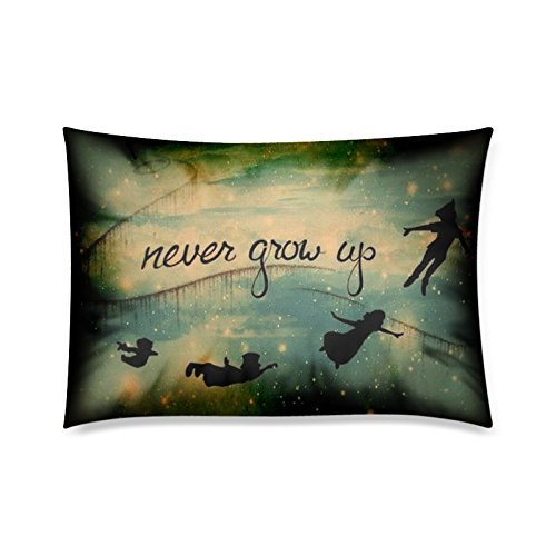 Home Decor Custom Peter Pan Never Grow Up Zippered Pillow Case Twin Sides 20x30 Inch (Peter Pan Pillow compare prices)