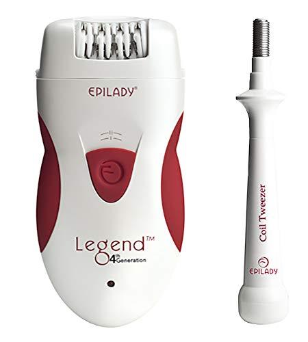 (Epilady Legend 4th Generation Rechargeable Epilator + Free Epilady Coil Tweezer)