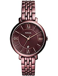 Women's Jacqueline Quartz Stainless Steel Dress Watch, Color: Purple (Model: ES4100)