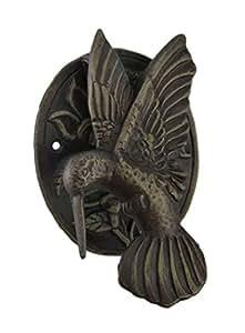 Cast Iron Hummingbird Door Knocker Bronze Finish