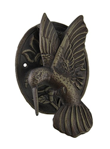 Cast Iron Hummingbird Door Knocker Bronze Finish (Bronze Knocker)