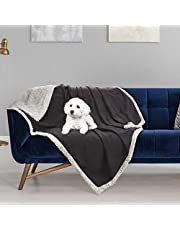 """Pawsse Waterproof Dog Blanket, Small Medium Pet Puppy Cat Fleece Sherpa Throws Cushion Mat for Couch Sofa Bed Car Seat Furniture Protector Cover 50"""" x 30"""""""