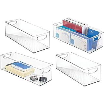 Amazon.com : mDesign Stackable Plastic Storage Bin Box