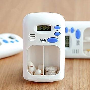 MyEstore Caja de la píldora Caja de Medicina recordatorio de píldoras de Temporizador de Alarma múltiple Inteligente (Blanco): Amazon.es: Electrónica