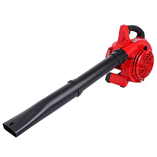 (Yonntech Gas Powered Leaf Blower and Vacuum Handheld 26cc 2 Cycle Engine 7500 RPM Garden Yard Lightweight Sweeper with 5 Black Tubes)