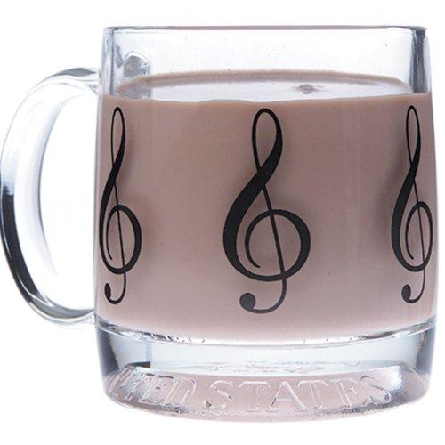 Gift House Music G-Clef Glass Mug - House Mug Music