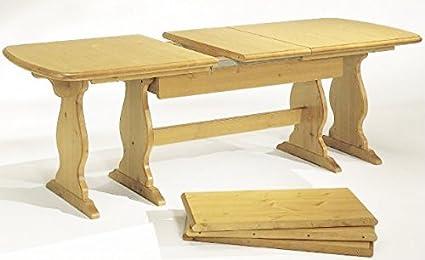 Arredamenti Rustici Tavolo allungabile in legno massello da 190 a ...