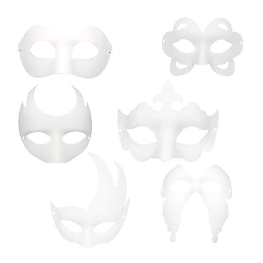 TOYANDONA 12 Piezas Máscara Blanca para Pintar de Disfraces ...