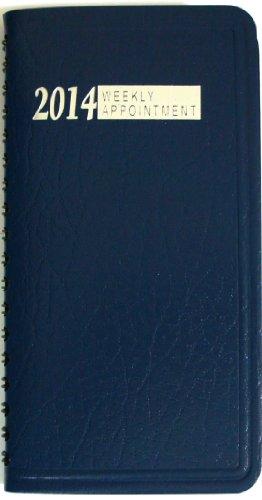 """2014 Weekly Appointment Pocket Planner (Size: 6.5 """" x 3.5"""") (NAVY BLUE)"""