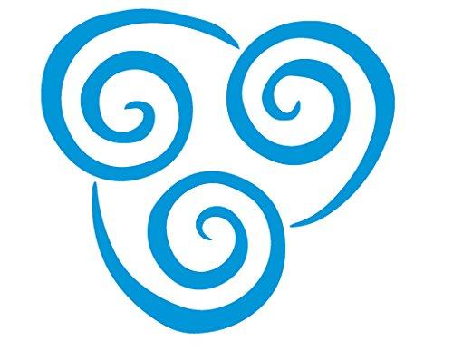 Avatar The Last Airbender Airbending Symbol (AZURE BLUE) (set of 2) Premium Waterproof Vinyl Decal Stickers for Laptop Phone Accessory Helmet Car Window Bumper Mug Tuber Cup Door Wall Decoration