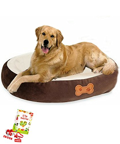 419TbU2uMLL - Dog Bed Trundle Or Orthopedic Frame Set Pillow Case For Breed Small Queen Puppy or Big King Dogs With Animal Print Liner Indoor Outdoor Pet Accessories