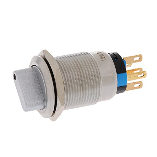 0.75' Toggle (Fenteer 19mm 0.75'' Mounting Thread Latching Metal LED Light On/Off Selector Rotary Switch Switcher Silver)