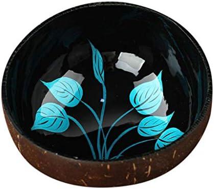 TIREOW Natürlich Vorratsschale Vorratsschale Kokosnussschalen Schüssel Halloween Süßigkeiten Halter Deko Buddha Kokosnuss Schale Schüssel für Studenten Kind (A)