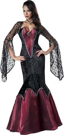 InCharacter Costumes Women's Piercing Beauty Vampiress Costume, Black/Red, Small
