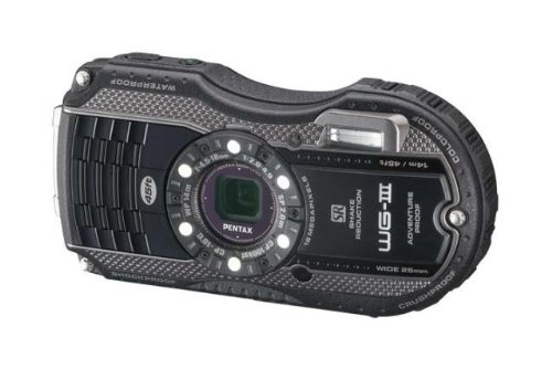 Pentax Optio WG-3 16MP Waterproof Digital Camera with 3-Inch LCD Screen (Black) (Digital Waterproof Pentax)