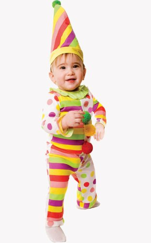 [Dress Up America Infant Dots N' Stripes Sweet Clown Costume - 12-24 Months] (Boy Clown Costumes)