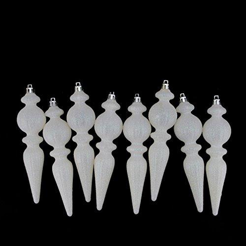 White Finish Ribbed Glass - 8