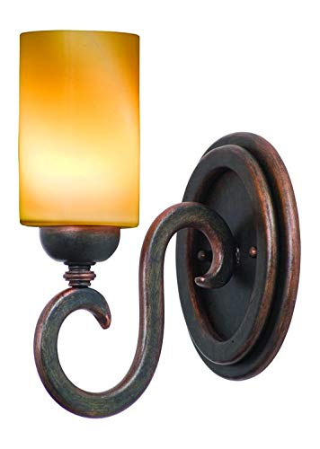 One Light Tortoise Shell Faux Calcite Glass Bathroom Sconce Tortoise Shell