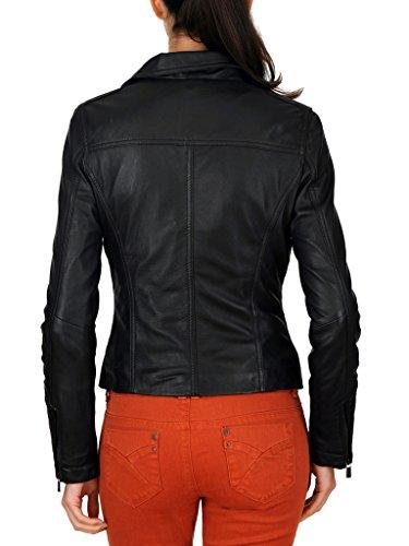 Para De Ll807 Piel Negro Ll800 Chaqueta Mujeres Cordero Copia Exemplar Auténtica YqvS5wn