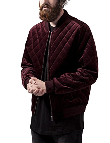 Giacca Diamond Jacket Velvet Rosso Quilt burgundy Classics Uomo Urban nFRvpaqw