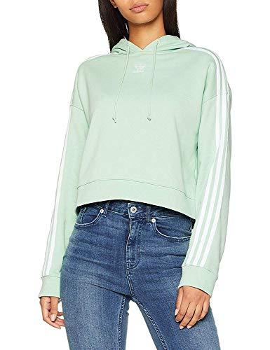 Adidas Mujer Sudadera Cropped Verde verrub wBxwO8Uqr