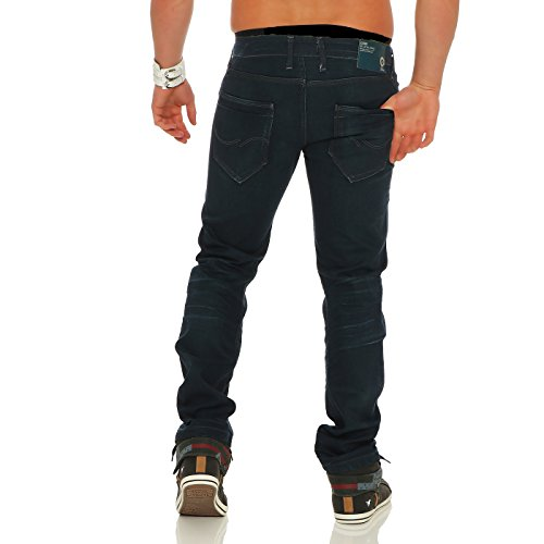 JACK & JONES Herren Regular Stretch Jeans Hose NICK LAB Dark Blue BL688 2. Wahl