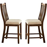 Steve Silver Furniture KY550CC Kayan Counter Chairs (Set of 2)