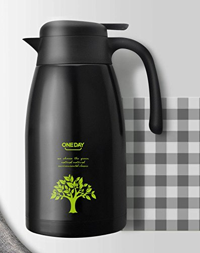 (Black Server Stainless Steel Insulated Thermal Coffee Carafe 2L)