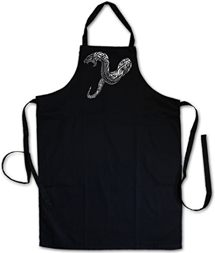Urban Backwoods Tribal Snake Barbecue BBQ Kitchen Cooking Apron ? Schlange Tattoo Oldschool Flash Artist Studio