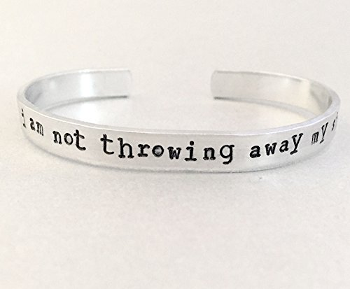 Hamilton Bracelet - I am Not Throwing Away My Shot - Hand Stamped Cuff in Aluminum, Brass or Silver