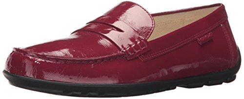Geox Girls' Fast 1 Moccasin, Burgundy, 26 M EU Toddler (9 (Toddler Burgundy Patent Footwear)