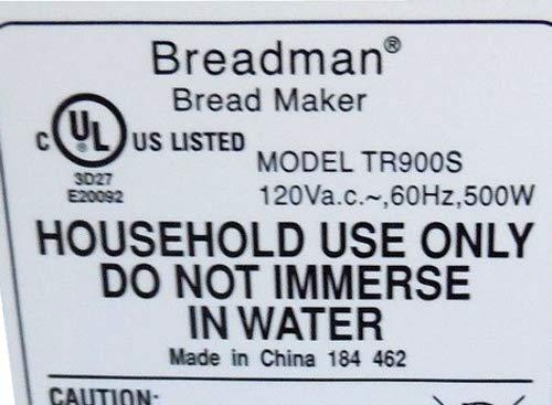 Lot de 2 Breadman Pan máquina remo tr900s tr-900s hoja parte ...