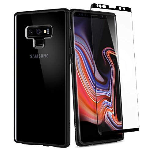 Spigen Ultra Hybrid 360 Galaxy Note 9 Case with 360 Full Body Coverage Protection with Tempered Glass Screen Protector for Samsung Galaxy Note 9 (2018) - Matte Black ()