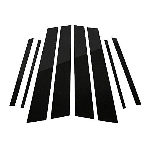 (Merssavo 8pcs Mirror Effect Window Center Pillar Cover Trim Fit for Toyota RAV4 2013-2018)